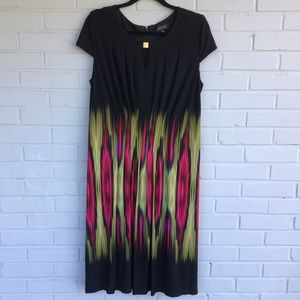 Women's Tahari black & multicolored dress